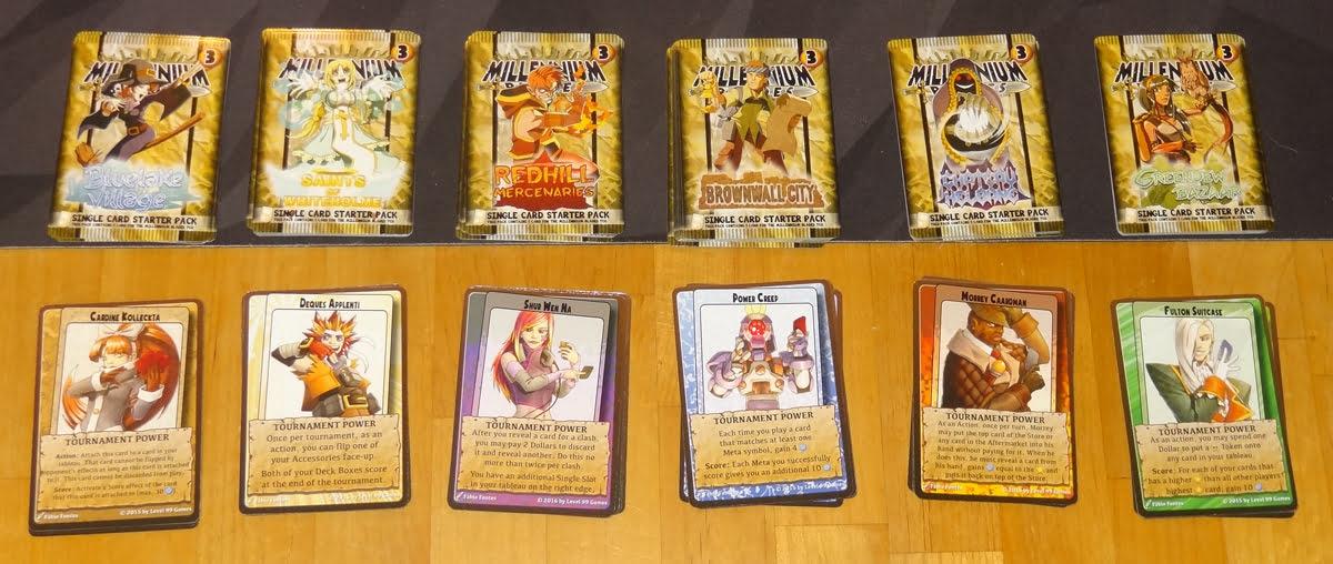 Millennium Blades characters & starting decks