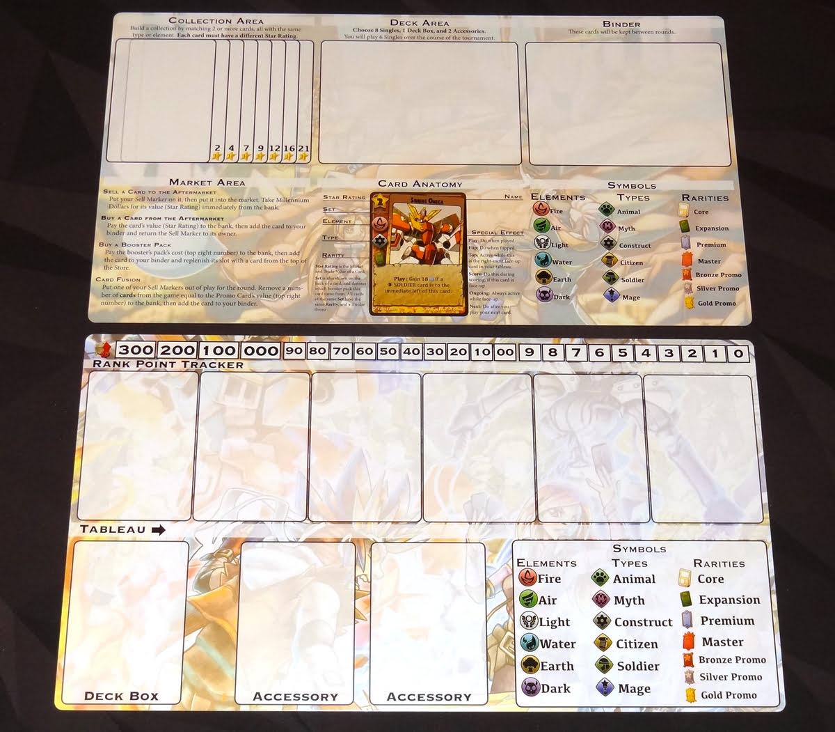 Millennium Blades player mats