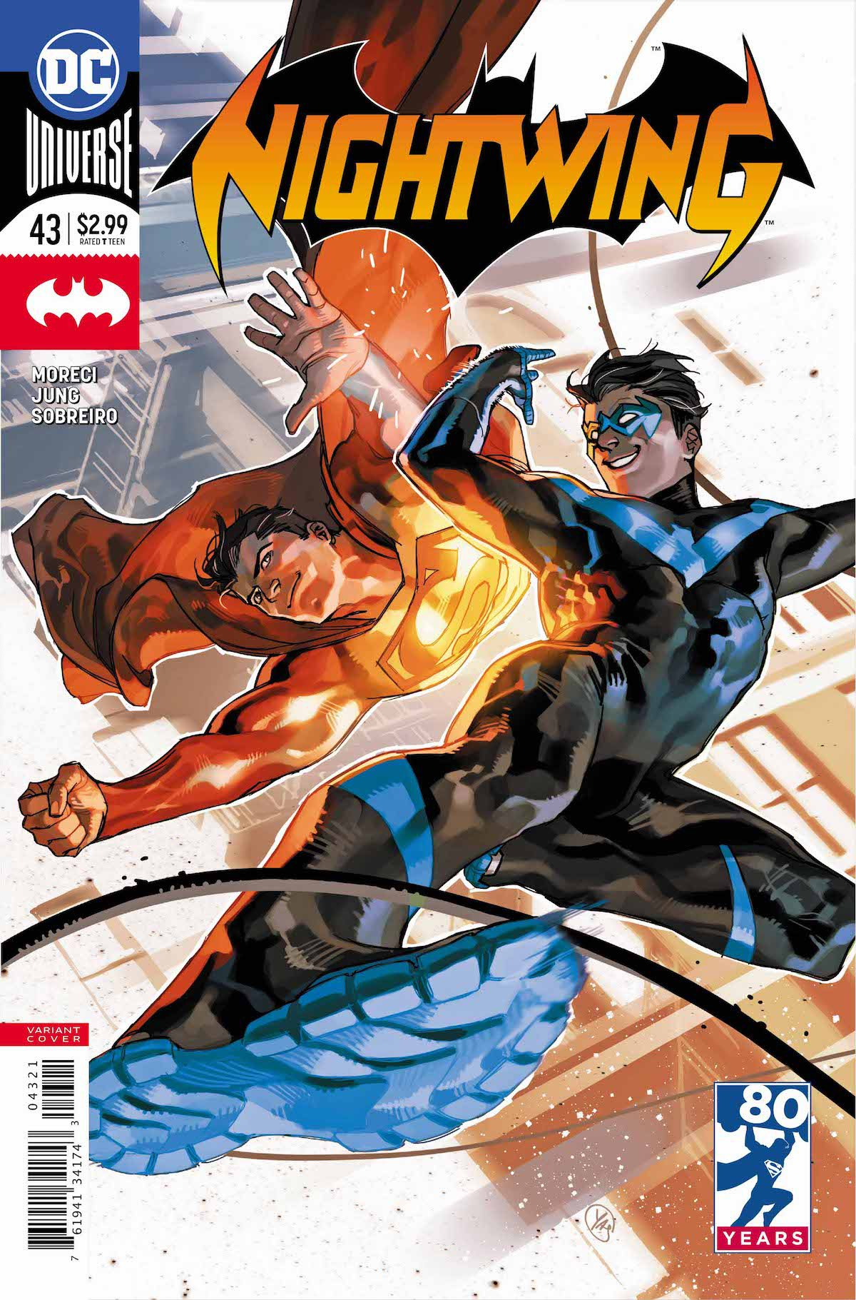 Nightwing #43 Superman variant cover