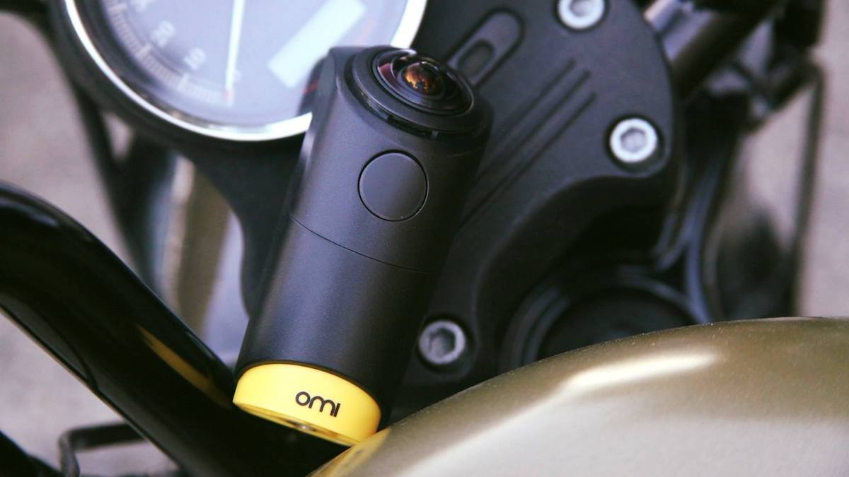 OmiCam 360º camera captures adventures.