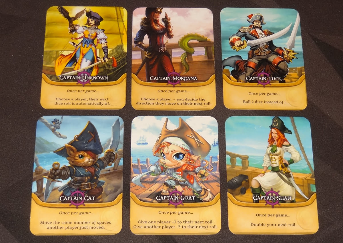 Pirate's Flag captain cards