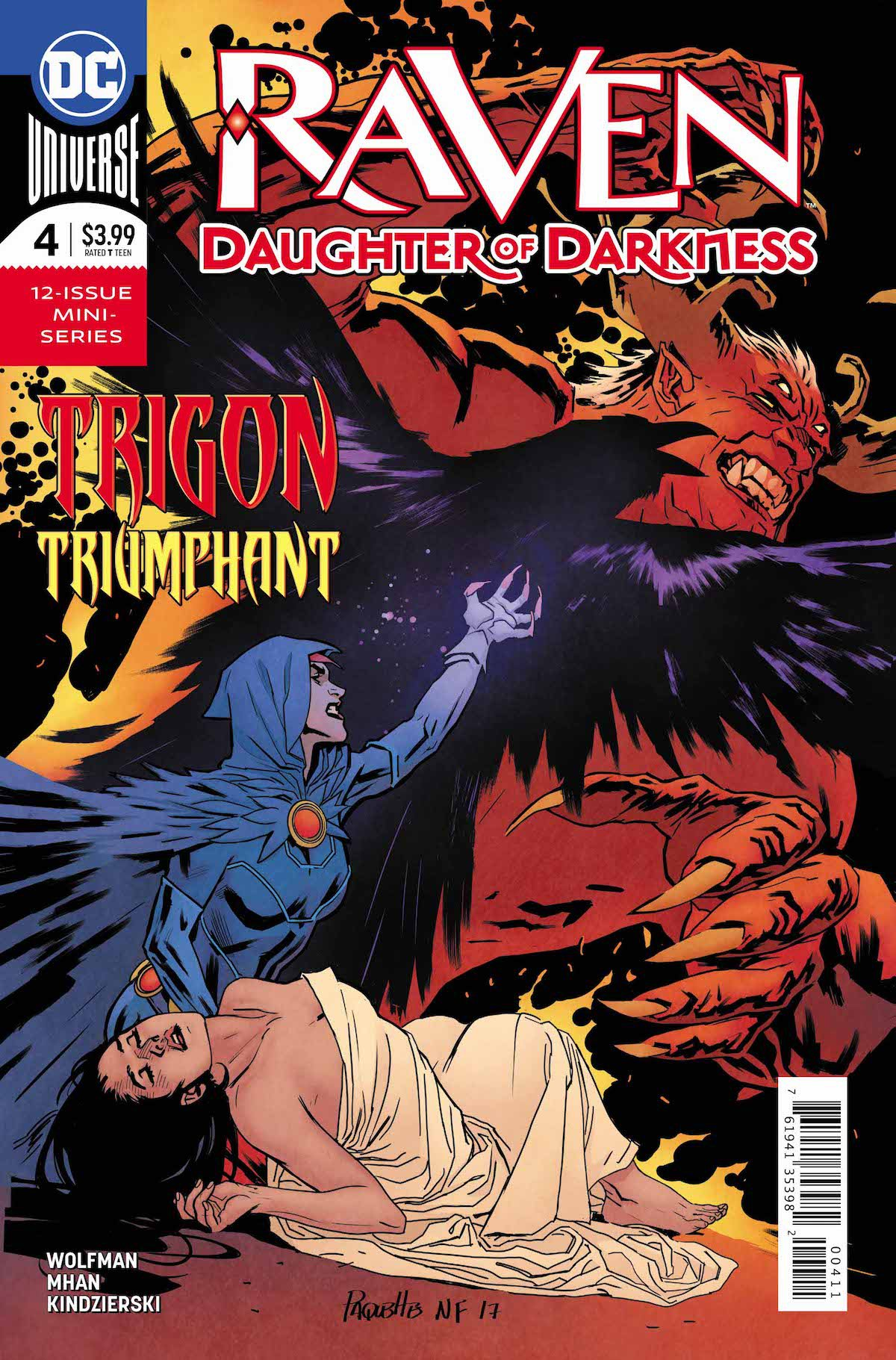 Raven Daughter of Darkness #4 cover