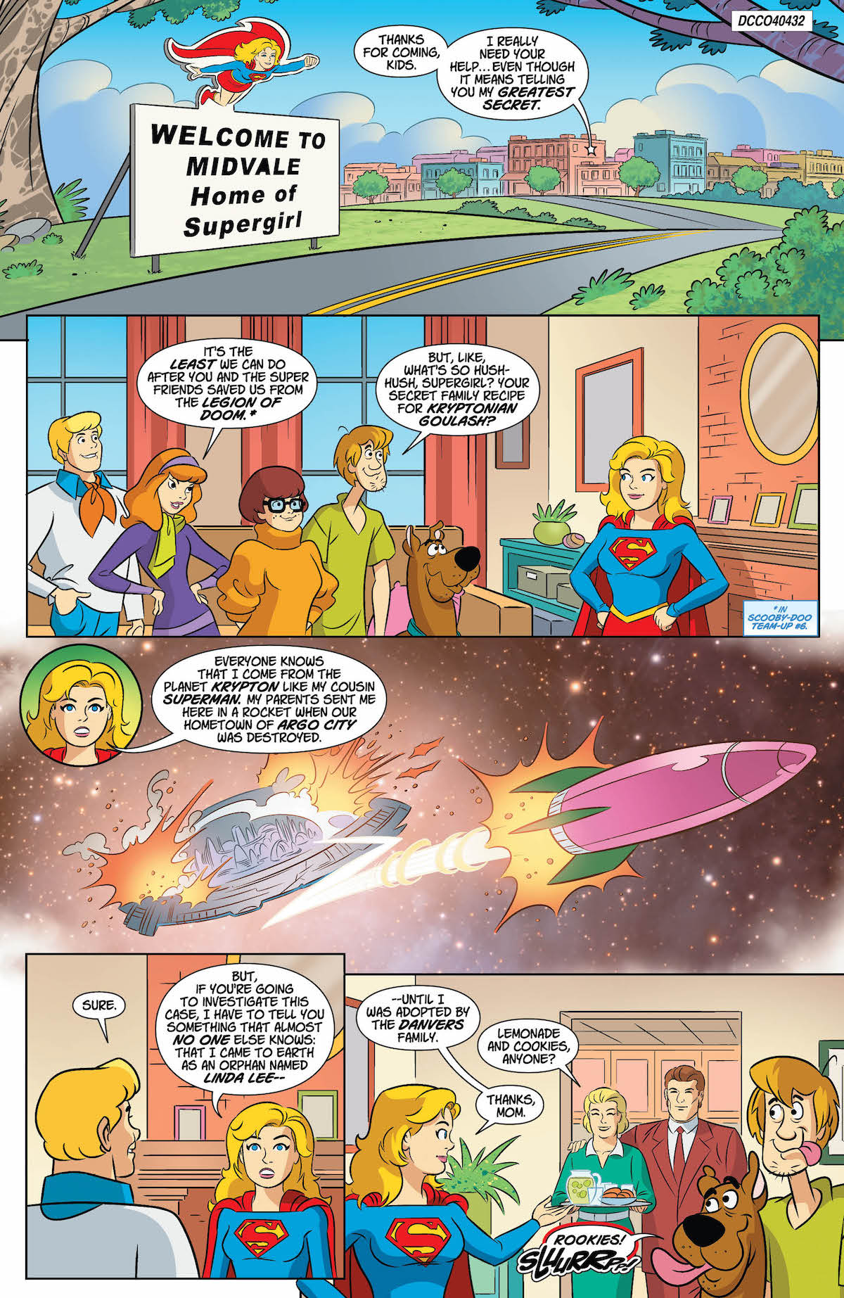 Scooby Doo Team Up #37 Supergirl page 1