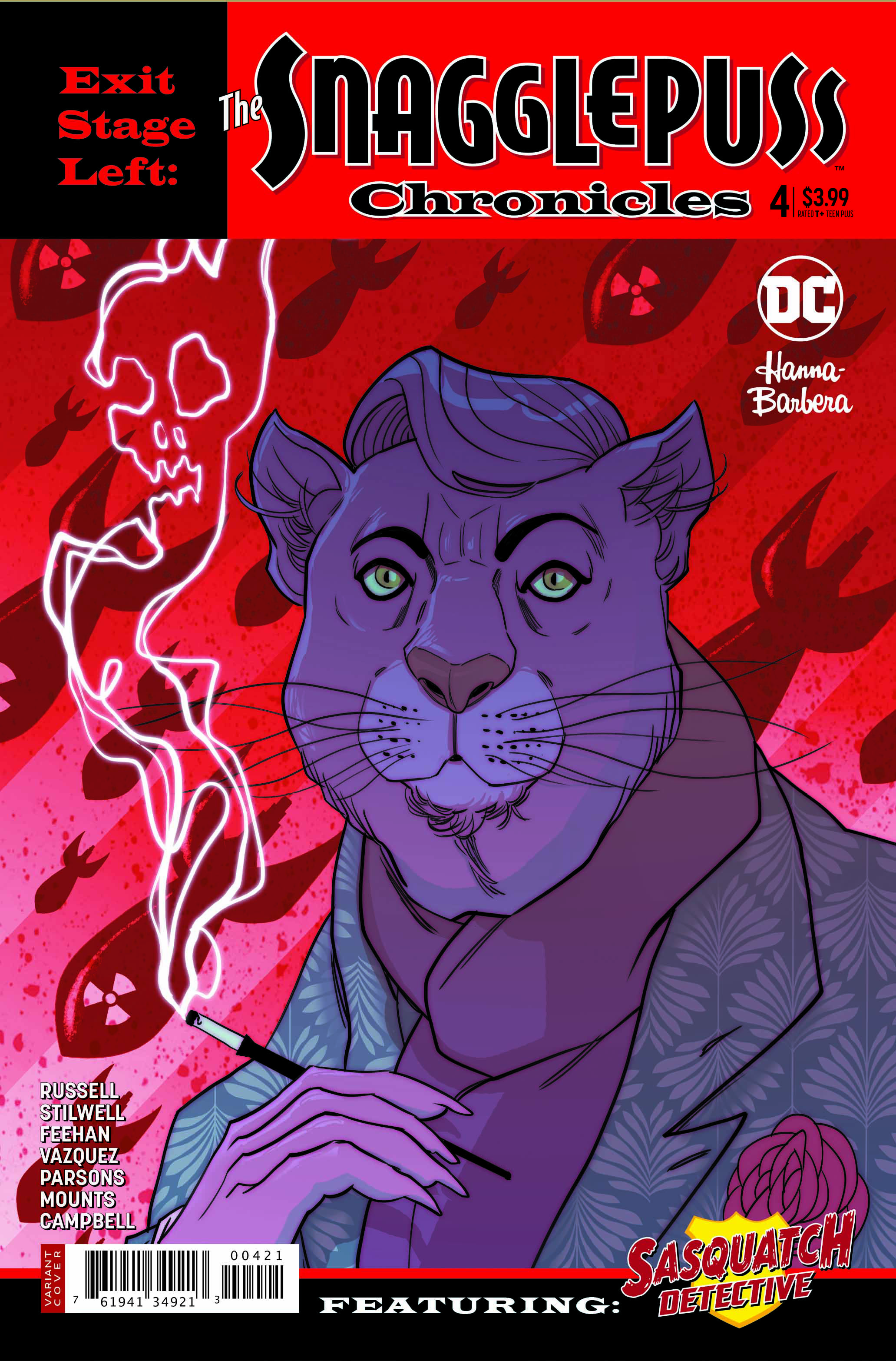 Snagglepuss Chronicles #4 variant cover