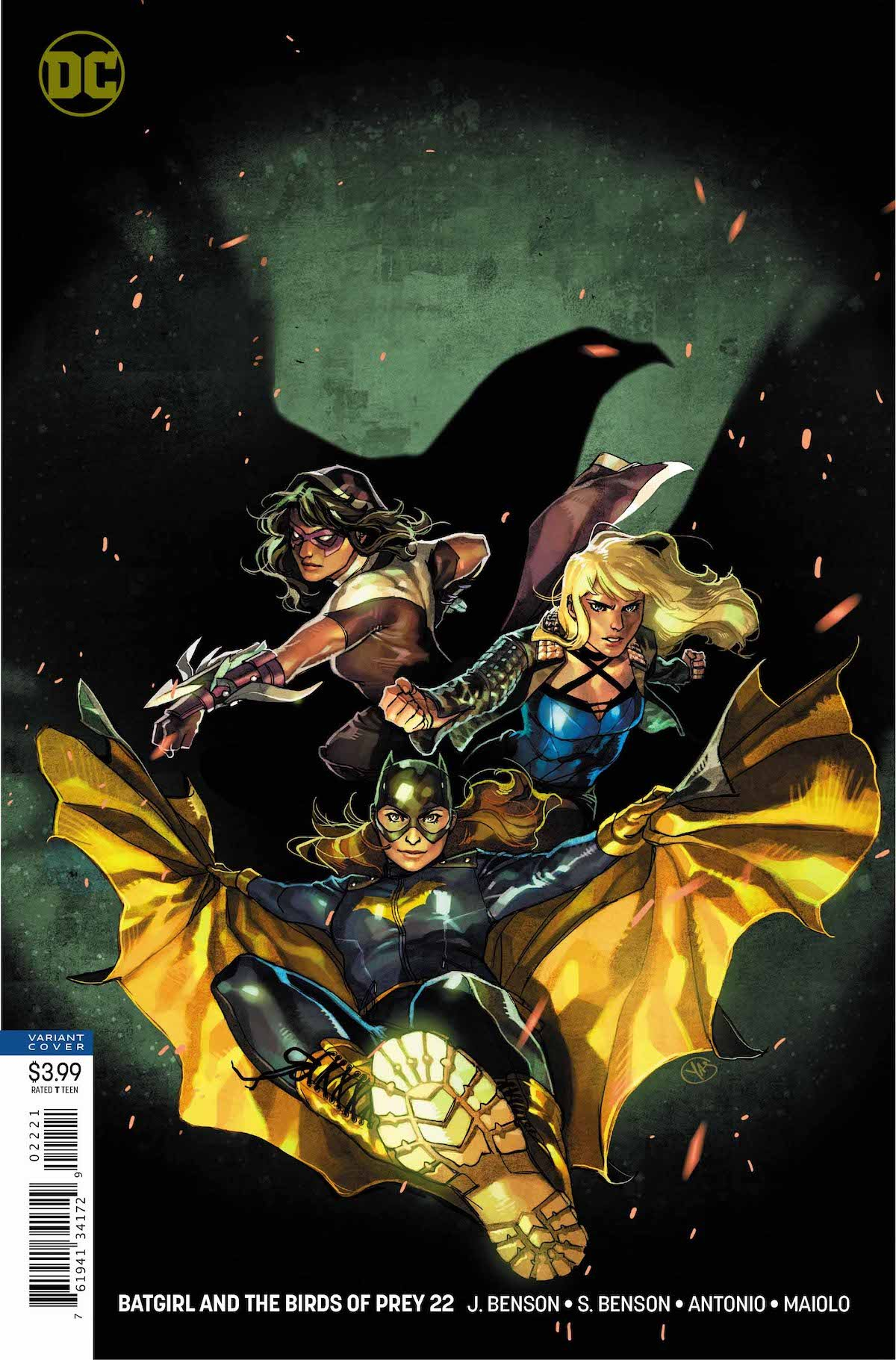 Batgirl and the Birds of Prey #22 variant cover