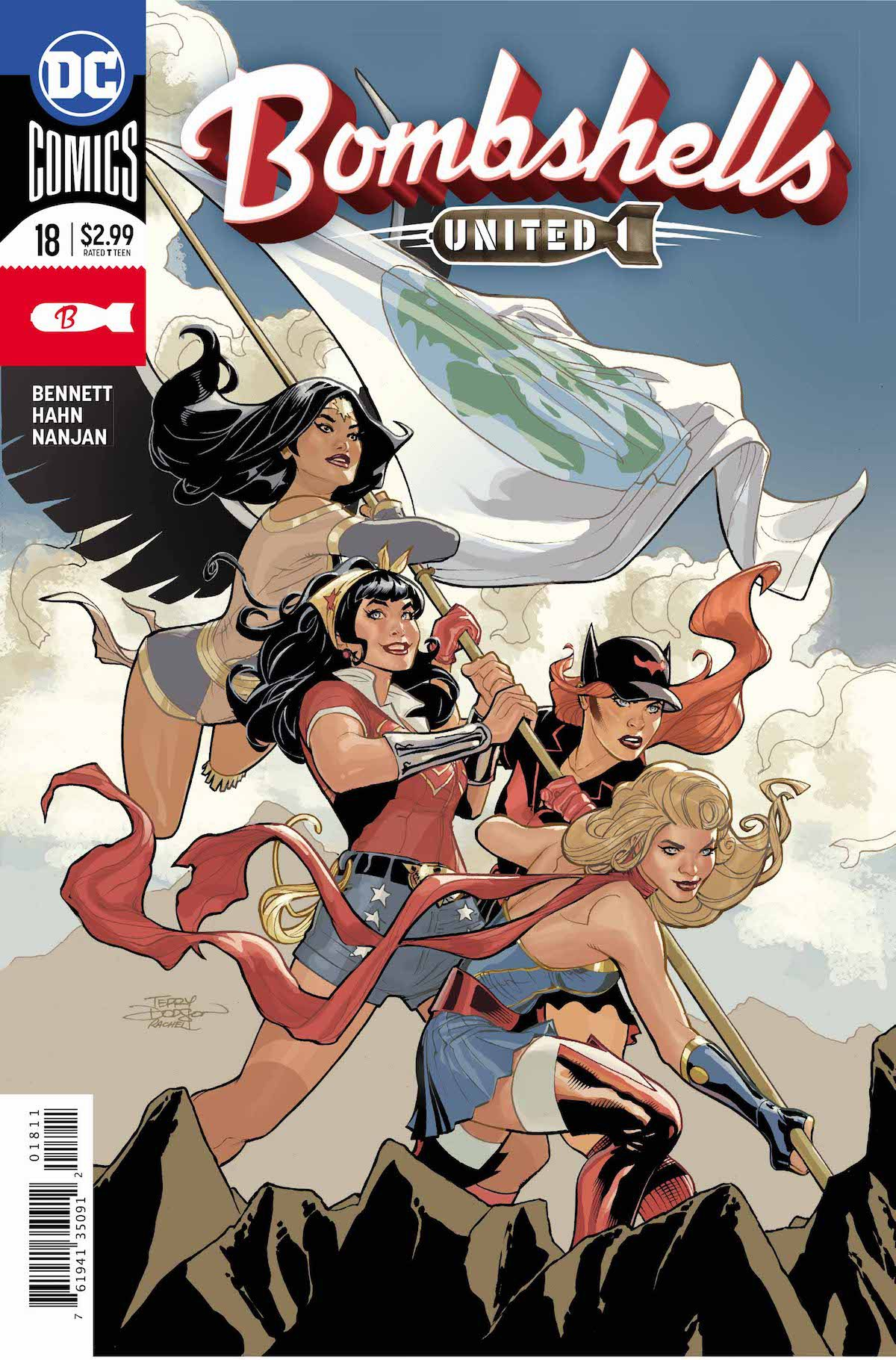 Bombshells United #18 cover