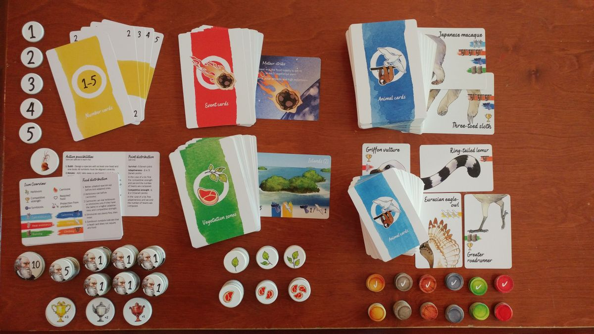 Darwin's Choice game components