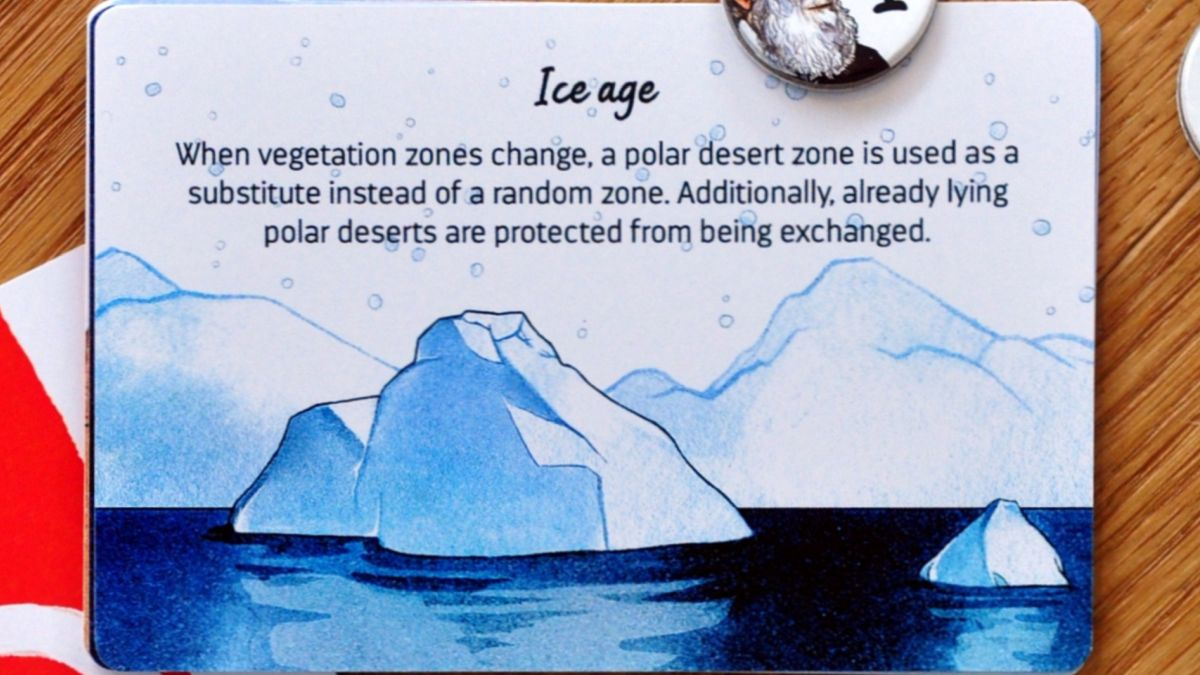 Darwin's Choice Event card: Ice age