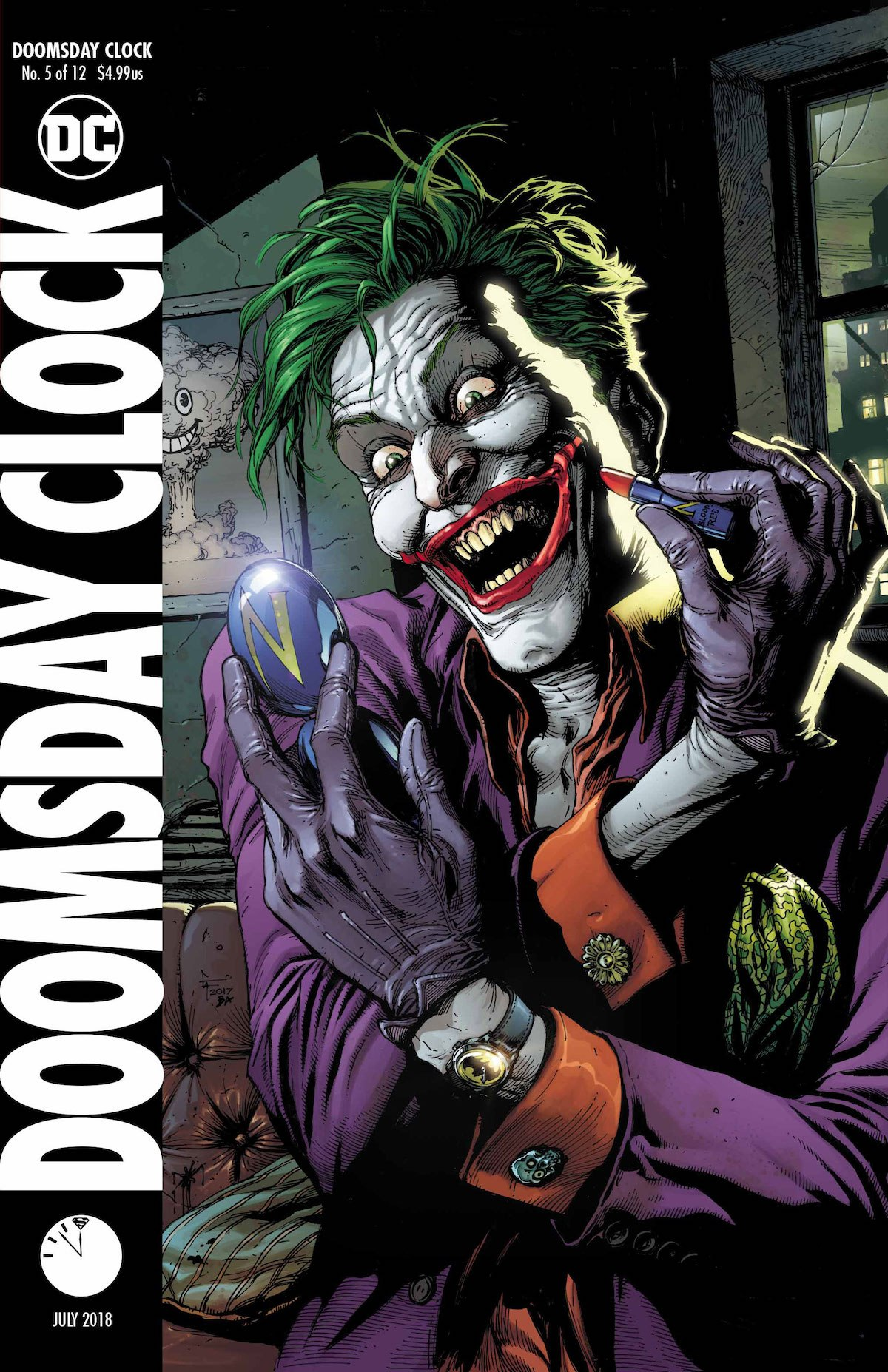 Doomsday Clock #5 variant cover