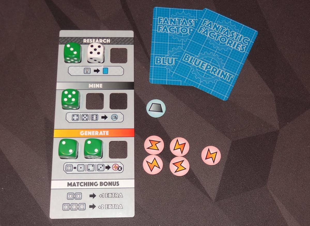 Fantastic Factories player board