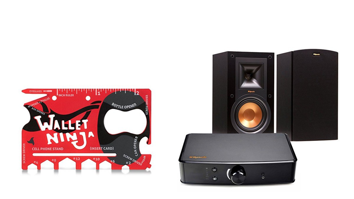 Geek Daily Deals 052318 card tool klipsch amp speakers
