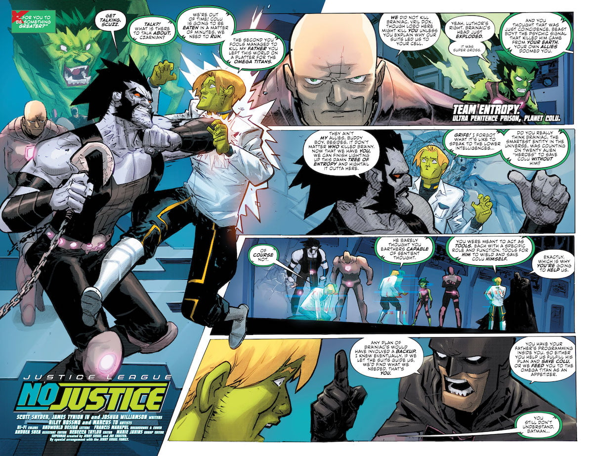 Justice League No Justice #3 pages 2-3