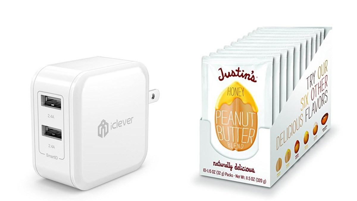 Geek Daily Deals 052718 usb charger peanut butter honey packs