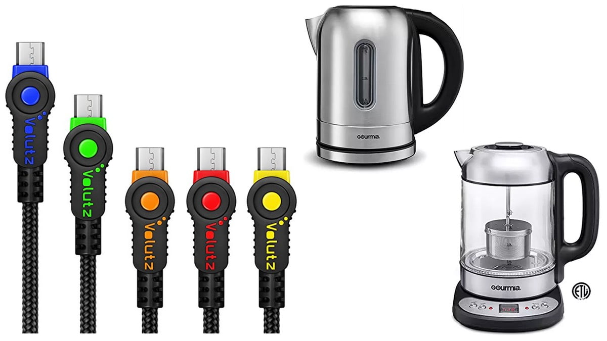 Geek Daily Deals 060118 usb cables tea kettles