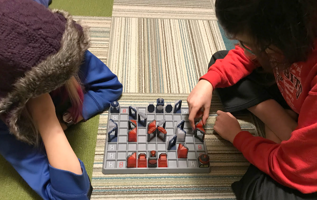 Laser Chess game in progress