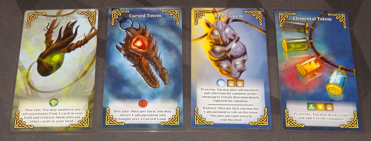 Mystic Vale: Conclave totem cards