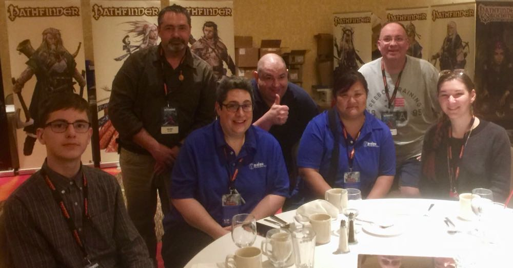 PaizoCon banquet crew, art team and other guests.