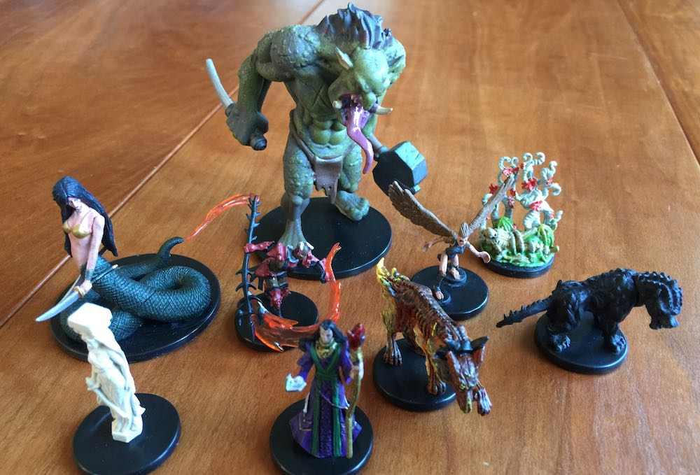 Miniatures from booster packs