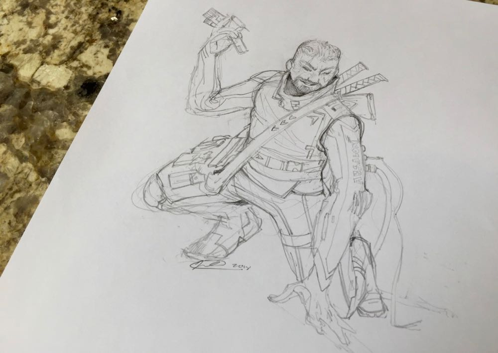 Illustration by Taylor Fischer of Ryan as a rogue