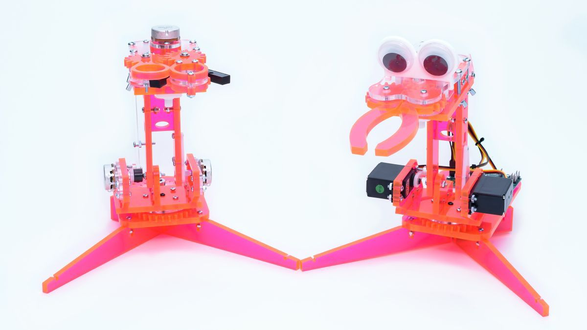 A mimicArm robot with controller. Image by Brett Pipitone, used with Permission.