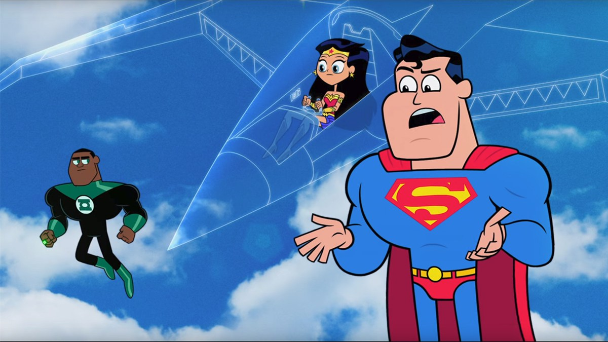 Superman, Wonder Woman, and Green Lantern in Teen Titans Go! to the Movies