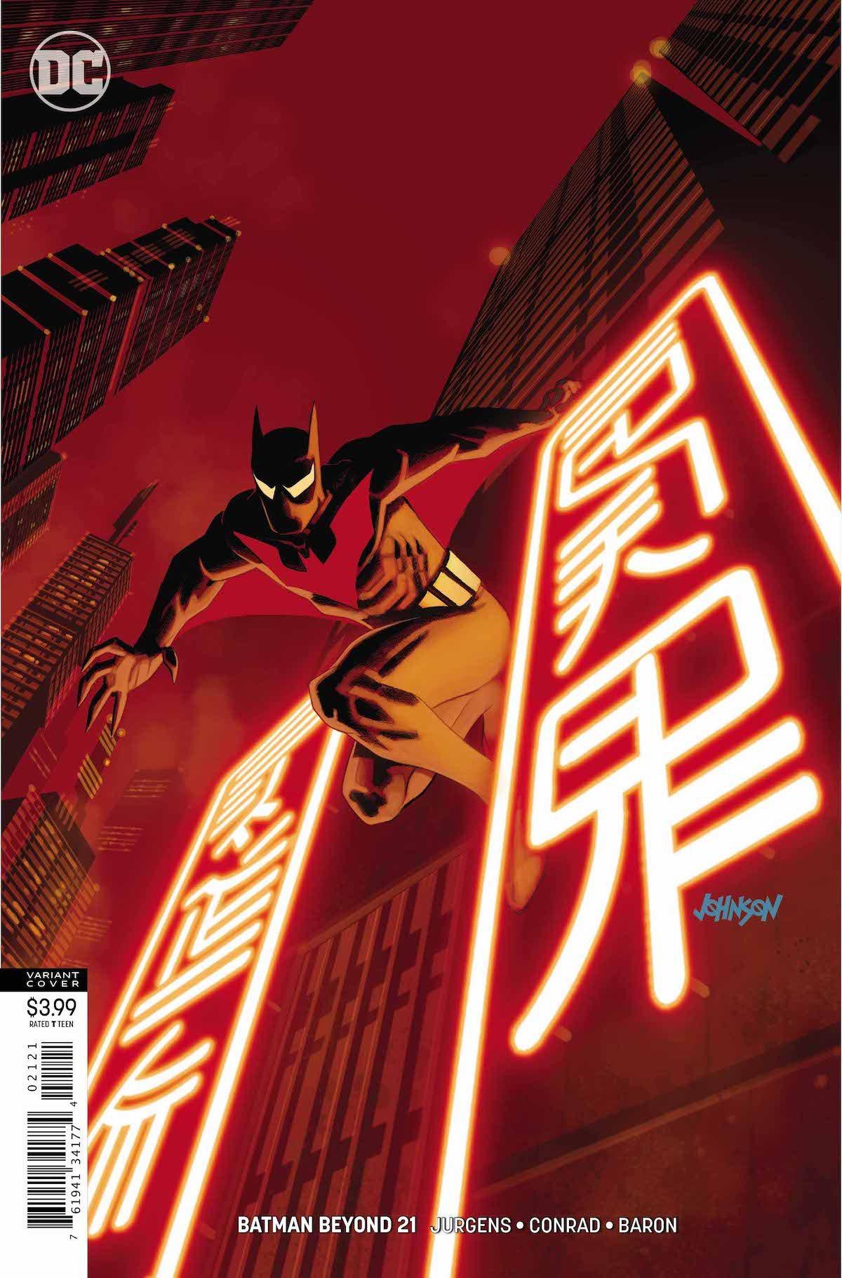 Batman Beyond #21 variant cover