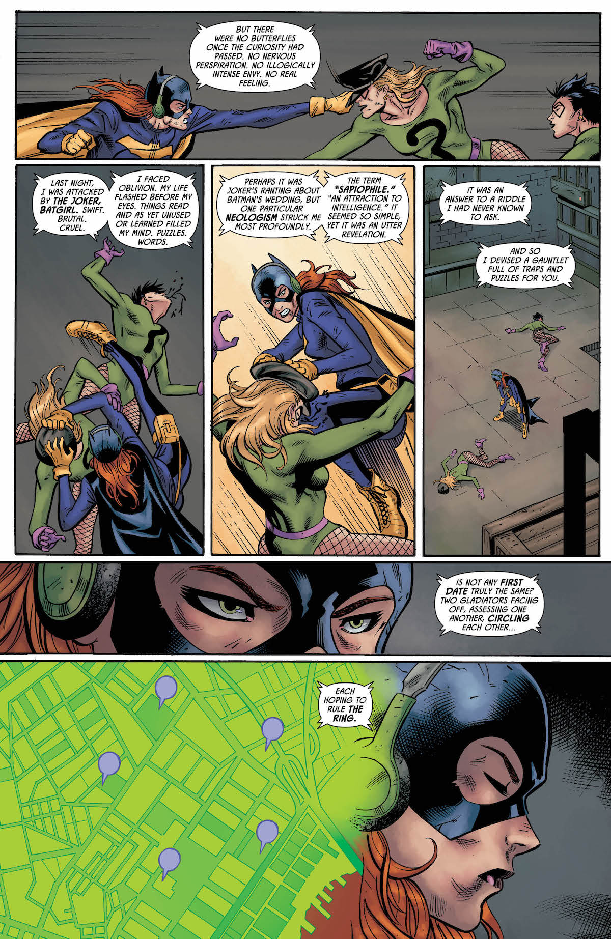 Batman Prelude to the Wedding Batgirl vs. Riddler Special #1 page