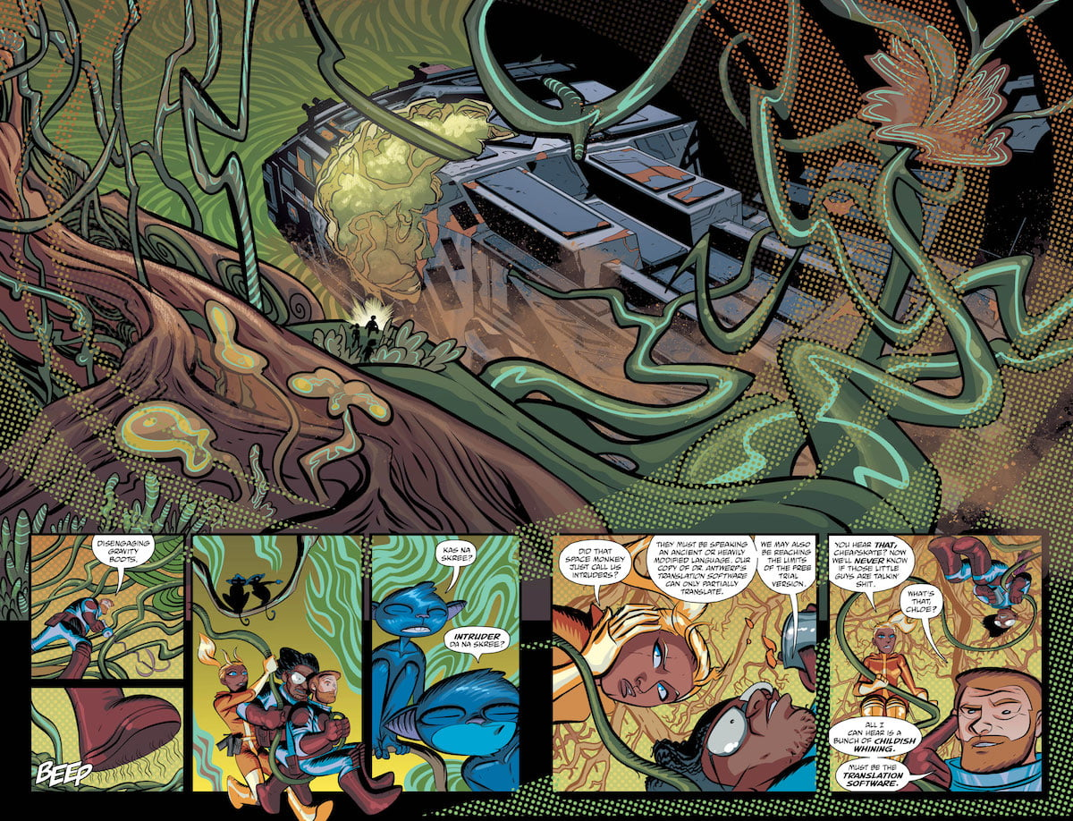 Cave Carson Has an Interstellar Eye #4 pages 2-3