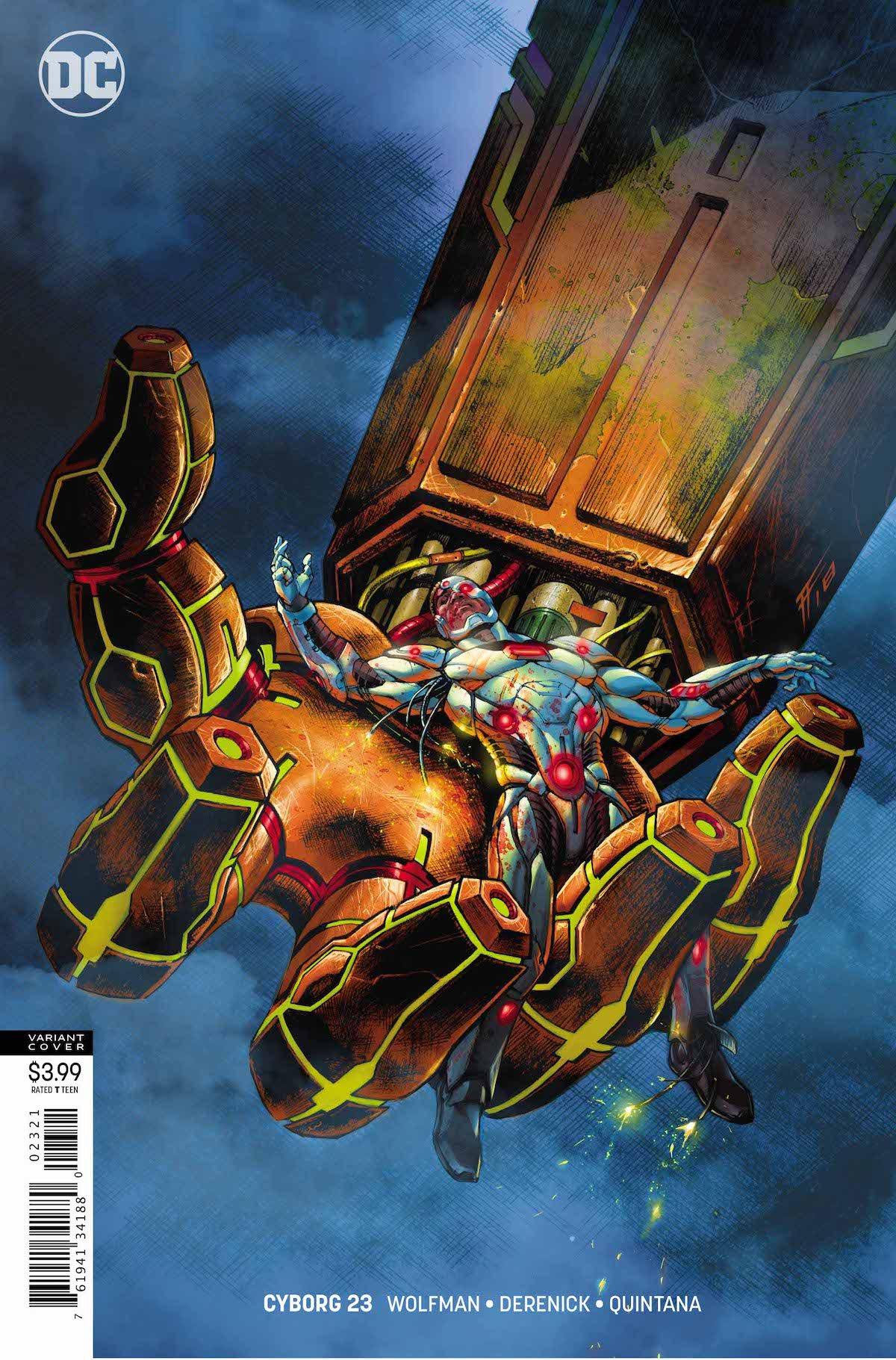 Cyborg #23 variant cover