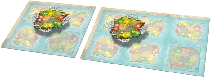 Heroes of Land, Air & Sea: floating continent