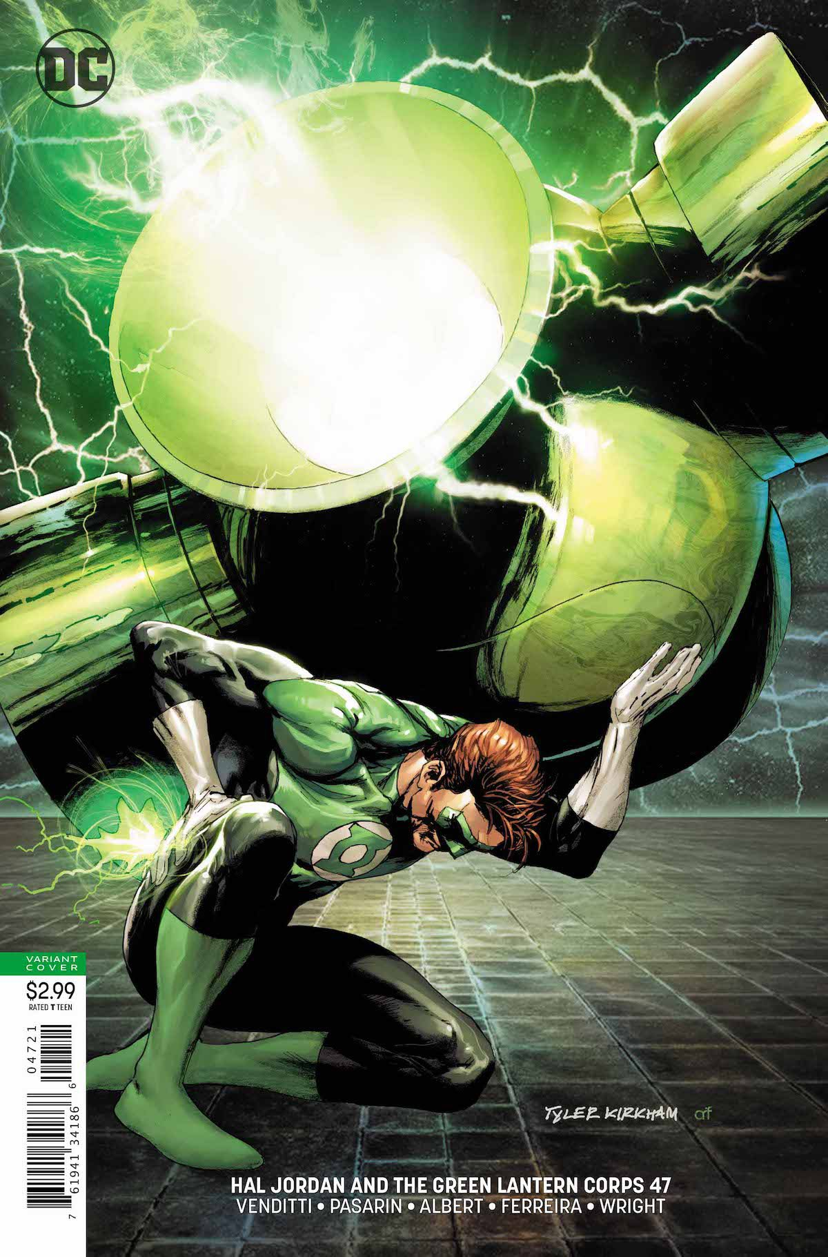 Hal Jordan and the GLC #47 variant cover
