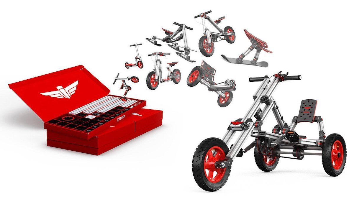 Infento Kits are modular kits to build amazing life-size rides with your kids.