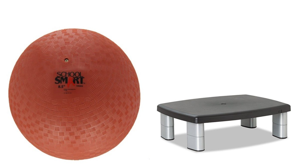 Geek Daily Deals 060418 red rubber ball monitor stand