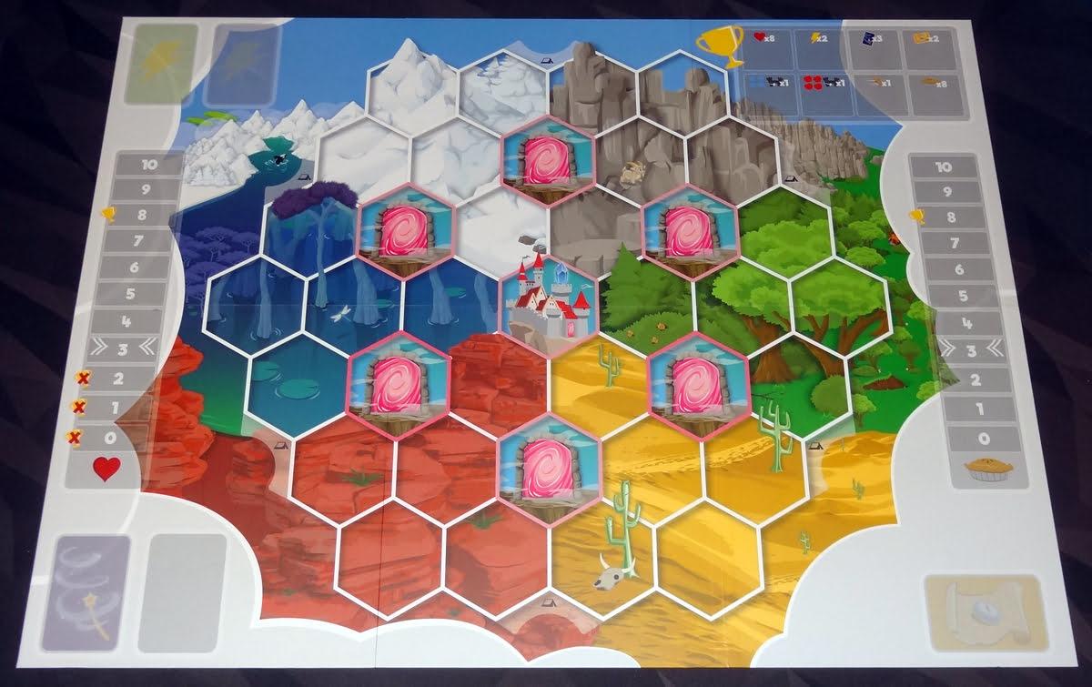 My Little Scythe game board