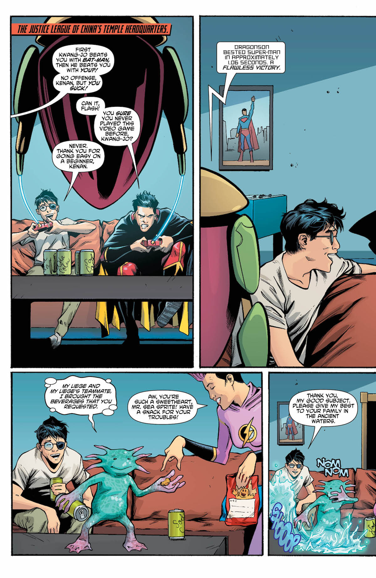 New Super-Man And the Justice League of China #24 page 2