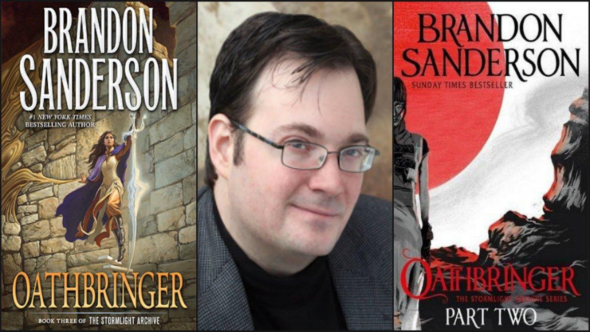 Oathbringer cover art with Brandon Sanderson Headshot