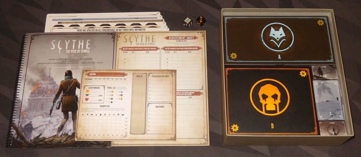 Scythe: The Rise of Fenris components