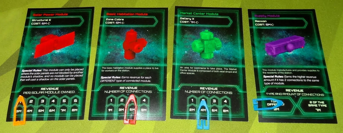 Startropolis module cards with clips