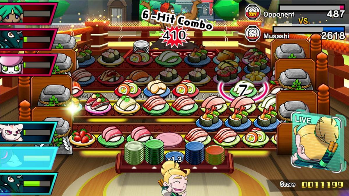 Switch Sushi Striker battle