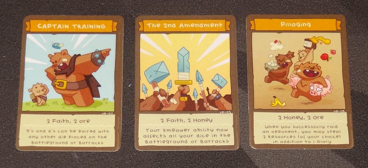 BarBEARian Battlegrounds upgrade cards