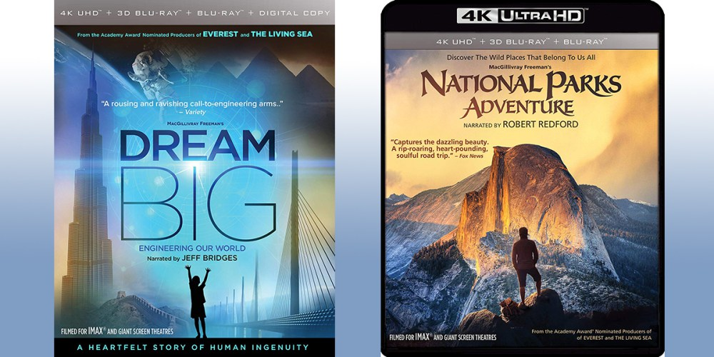 'Dream Big' and 'National Parks Adventure' on Blu-ray
