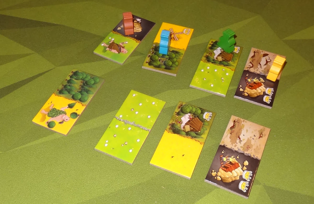 Kingdomino: Age of Giants choosing tiles