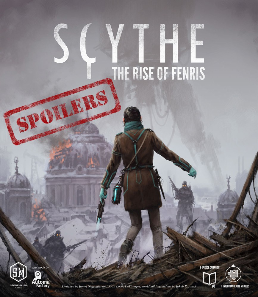 Scythe: The Rise of Fenris cover (with spoiler banner)
