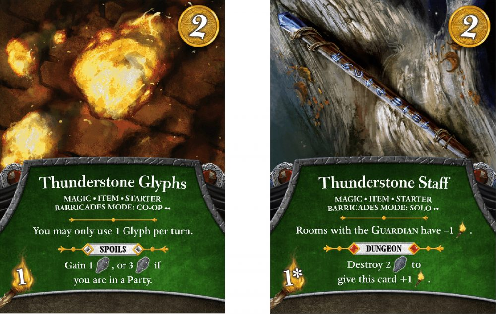 Thunderstone Glyphs and Thunderstone Staff