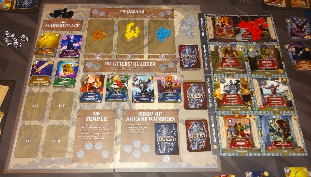 Thunderstone Quest village board