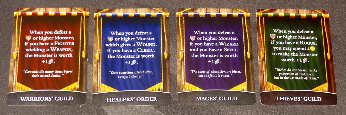 Thunderstone Quest Guild Sponsorship cards