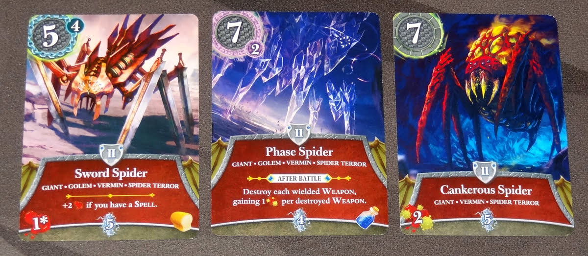 Thunderstone Quest spider cards