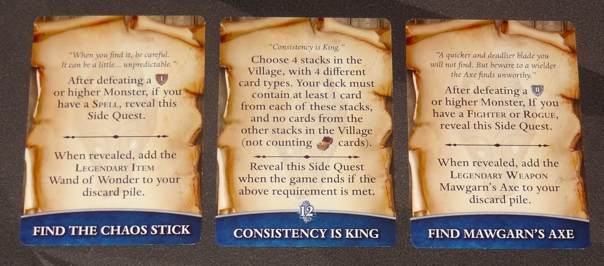 Thunderstone Quest side quest cards