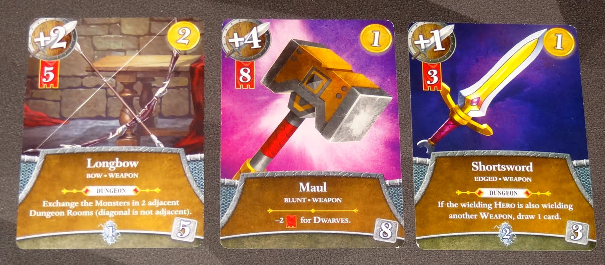 Thunderstone Quest weapon cards