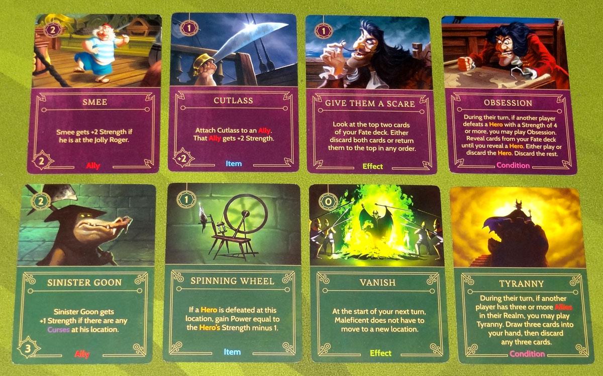 Villainous card types